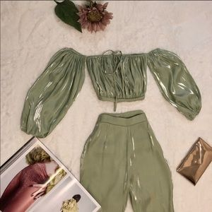 Mint green pants set!!!!